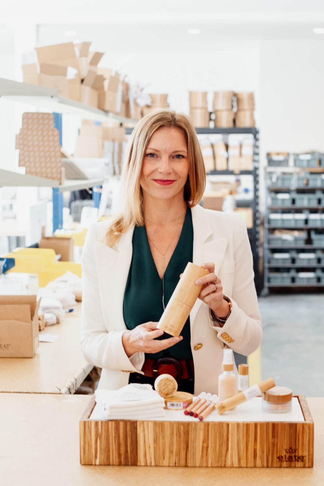 Melodie, the owner of Elate Cosmetics in Victoria, BC.
